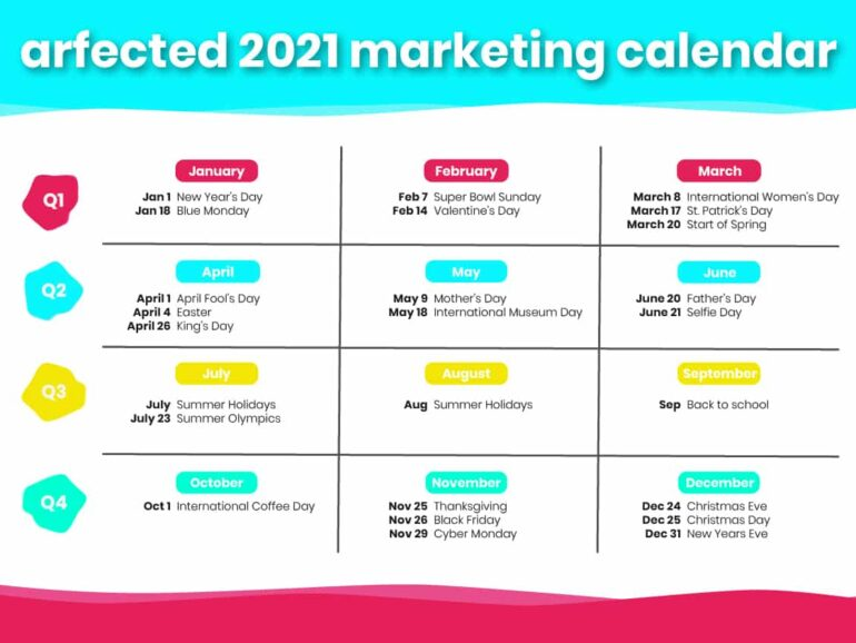 Key campaign dates to keep in mind in 2021 📆