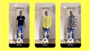 An example of Farfetch clothing try-on through the Snap Camera.